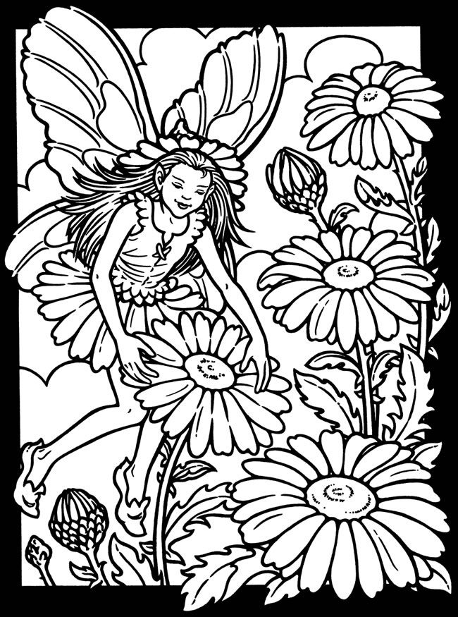 garden pixie coloring pages - photo #18