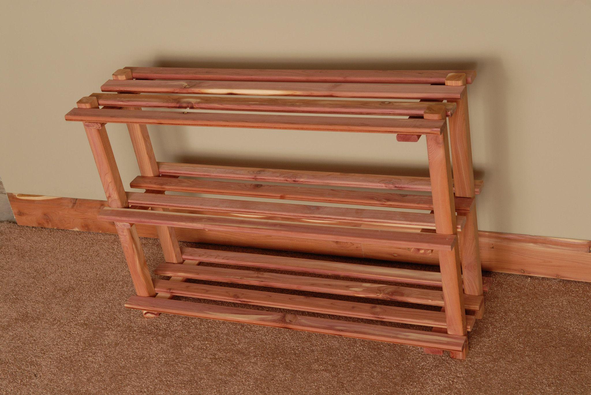 Cedar 3 Tier Shoe Rack Diy Projects Pinterest Table