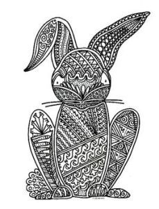 rabbit adult coloring pages easter rabbit