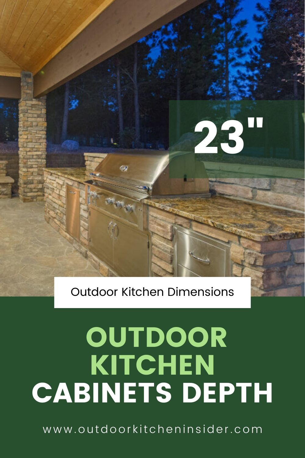 Outdoor Kitchen Counter What Height And Depth Are The Best In