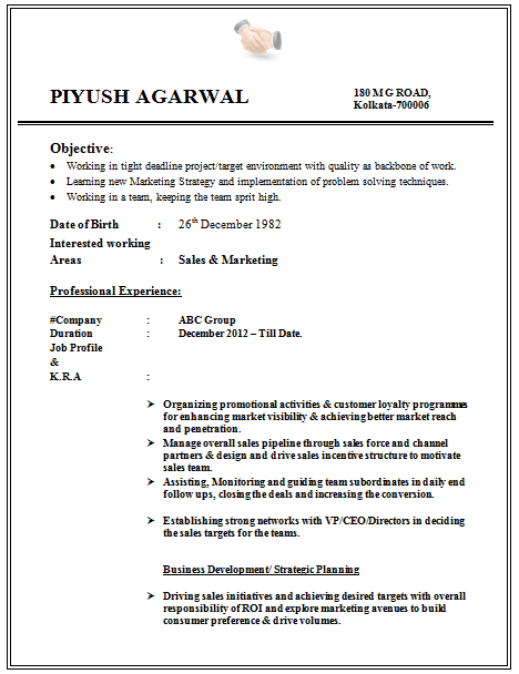Format For Cv For Engineering Student Latest Resume – Resume Format for Work