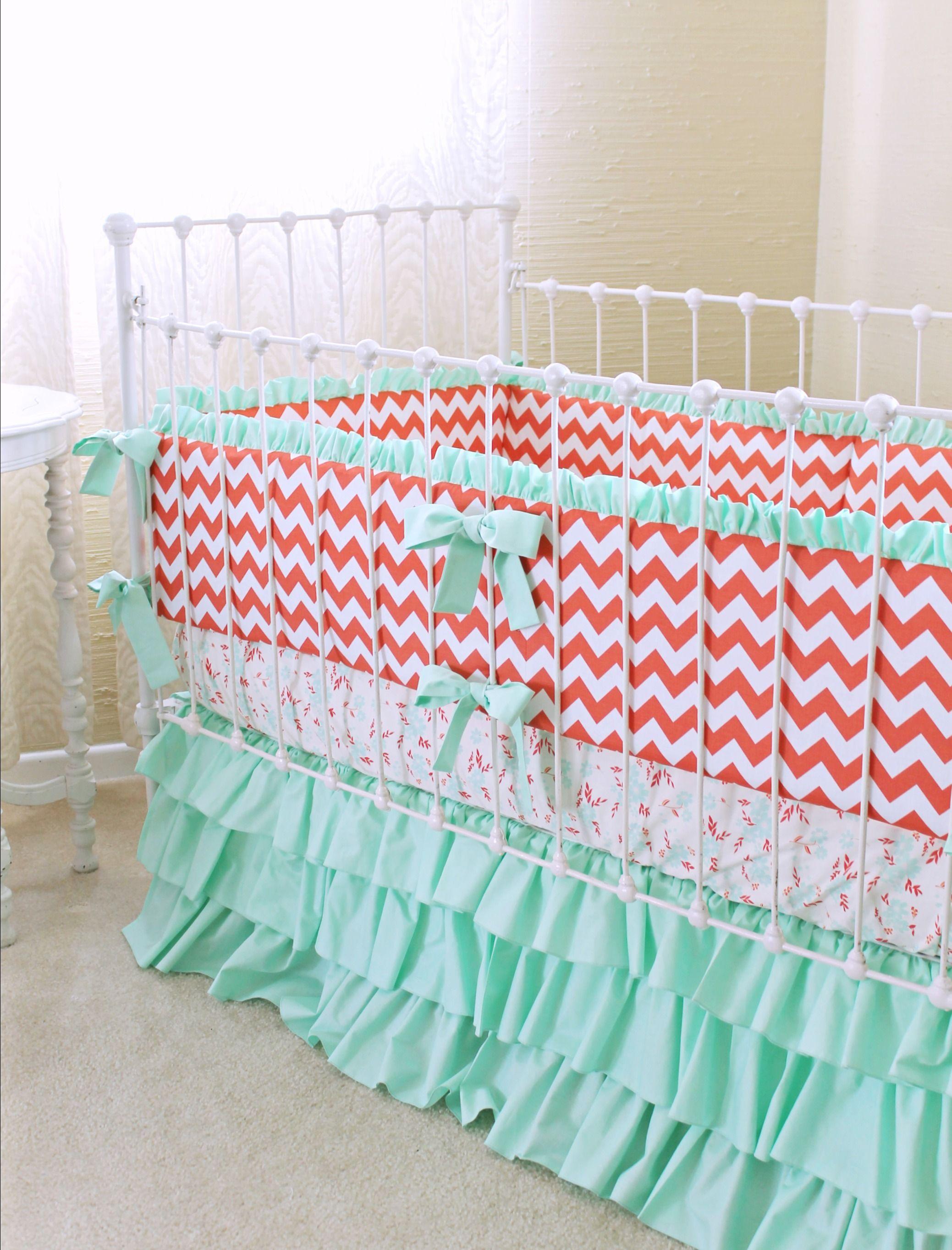 Sweet Chevron Baby Bedding : Custom Modern Crib Bedding ...