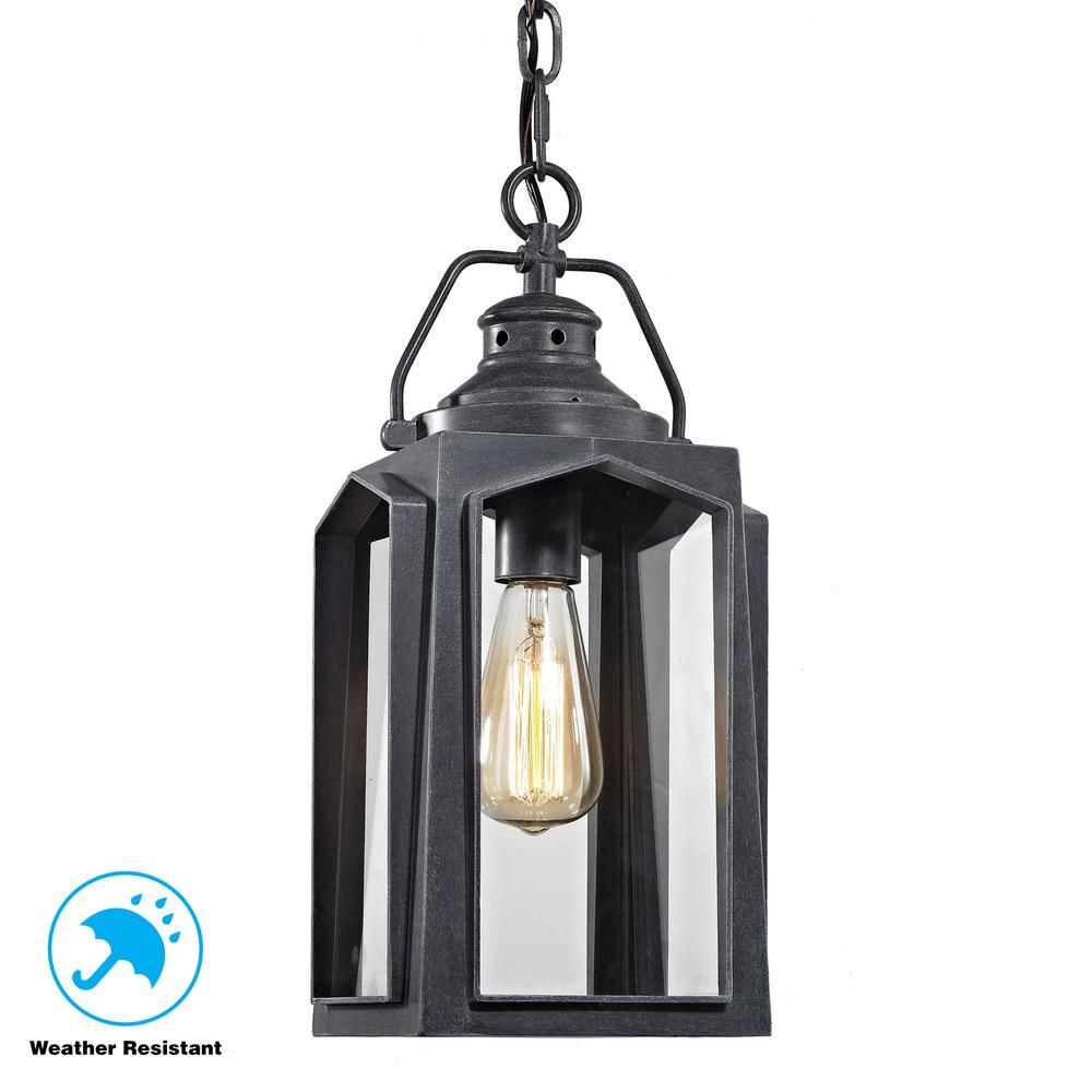 Home Decorators Collection 1 Light Charred Iron Medium Outdoor