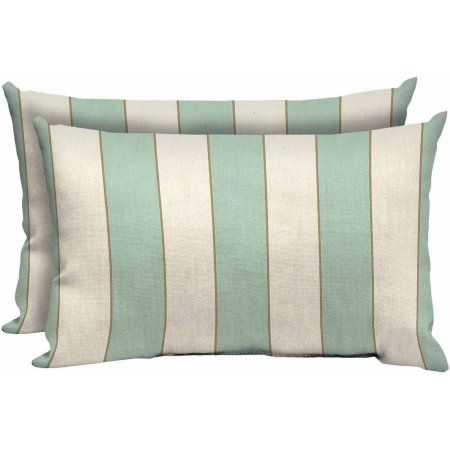 Better Homes and Gardens Outdoor Patio Lumbar Pillow, Set of Two, Seashells  Stripe, - Better Homes And Gardens Outdoor Patio Lumbar Pillow, Set Of Two