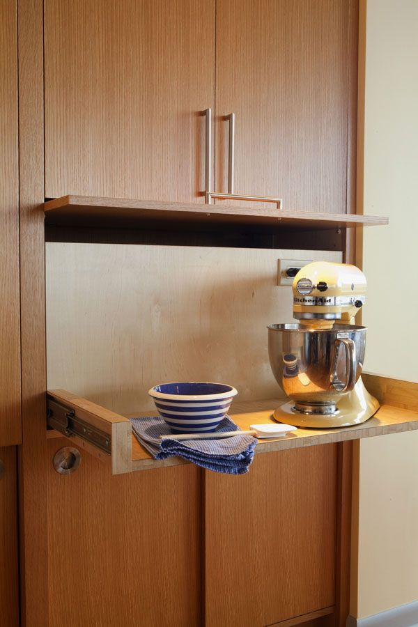 custom pull out mixer station cultivate com kitchen appliance storage modern kitchen small on kitchen organization for small spaces id=20646