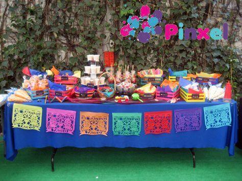 Pinxel decoraci n souvenirs mesa de dulces mexicanos weddings pinterest mesa de dulces for Decoracion kermes mexicana
