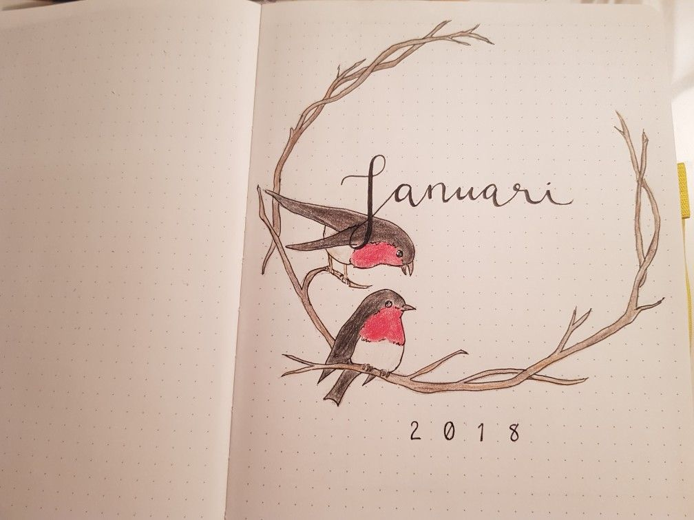 Bullet Journal ideas monthly cover page January