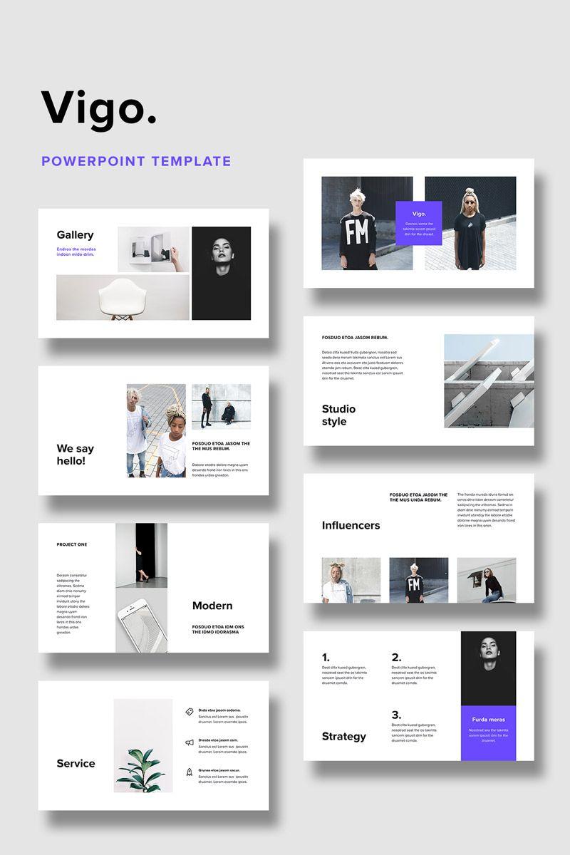VIGO + 20 Minimal Stock Photos PowerPoint Template   Design
