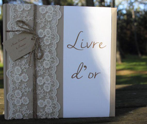 livre d 39 or gamme mariage champ tre chic livre d or en. Black Bedroom Furniture Sets. Home Design Ideas