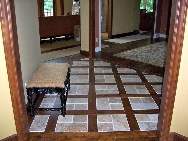 Image Result For Tile And Wood Floor Combination Pictures Foyer