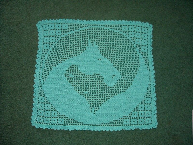 Small Yin Yang horse filet crochet PATTERN ONLY | house ideas ...