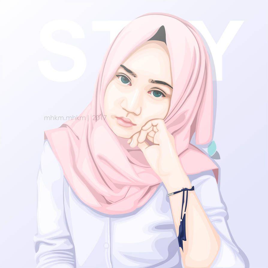 Vct Hijab By Mhkmstudio Anime Art Girl Hijab Cartoon Art