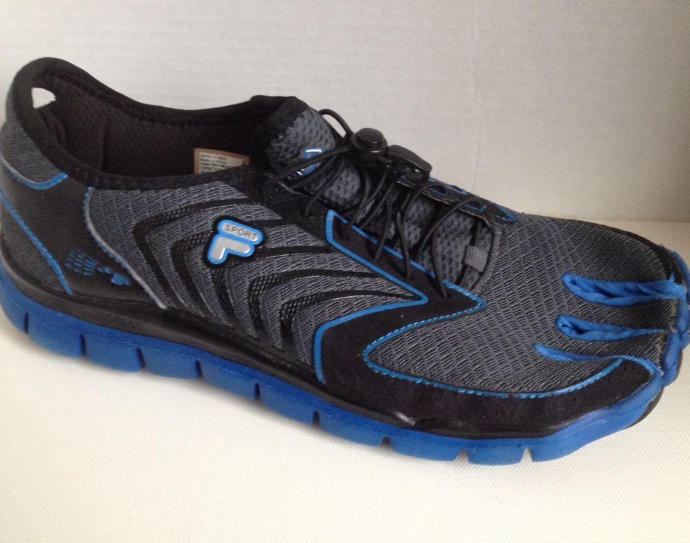 Fila Skeletoes Shoes Mens Size 12 M Black Blue Leap Skele