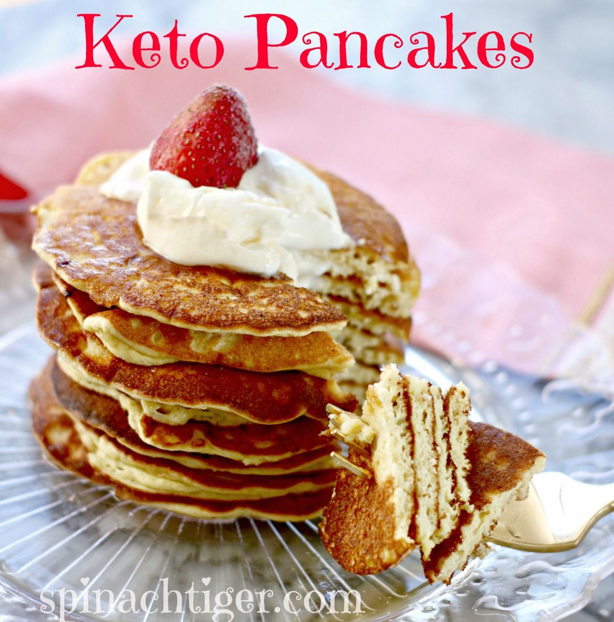 How to Make Best Fluffy Keto Pancakes, Low Carb, Paleo