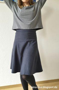 Ein-Schnittteil-Rock aus Fashionstyle 9/15 #keinekleidungnähen