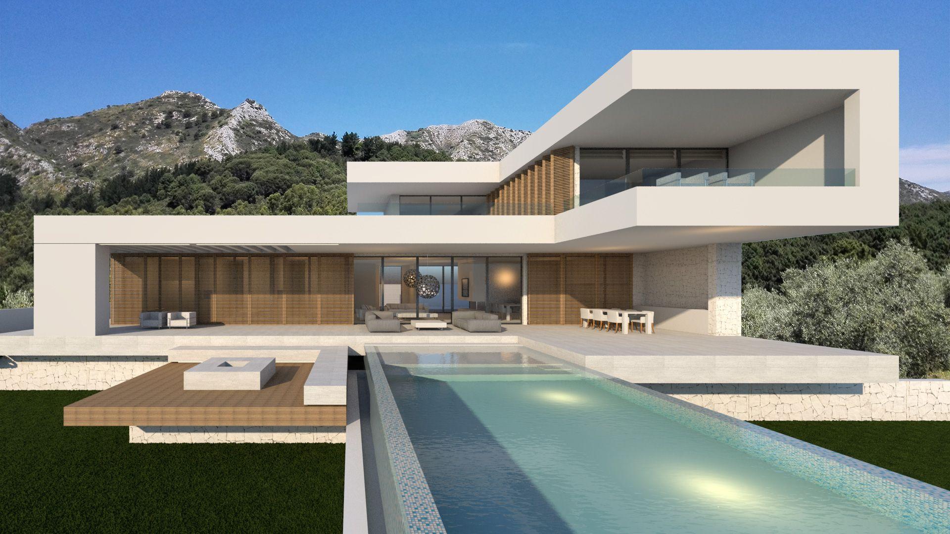 Impressive Contemporary Home Plans 4 Design Home Modern: Flying House Modern Villa Design (3)