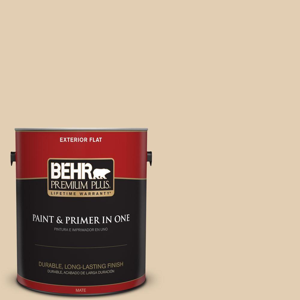 BEHR Premium Plus Home Decorators Collection 1-gal. #hdc-AC-09 Concord Buff Flat Exterior Paint