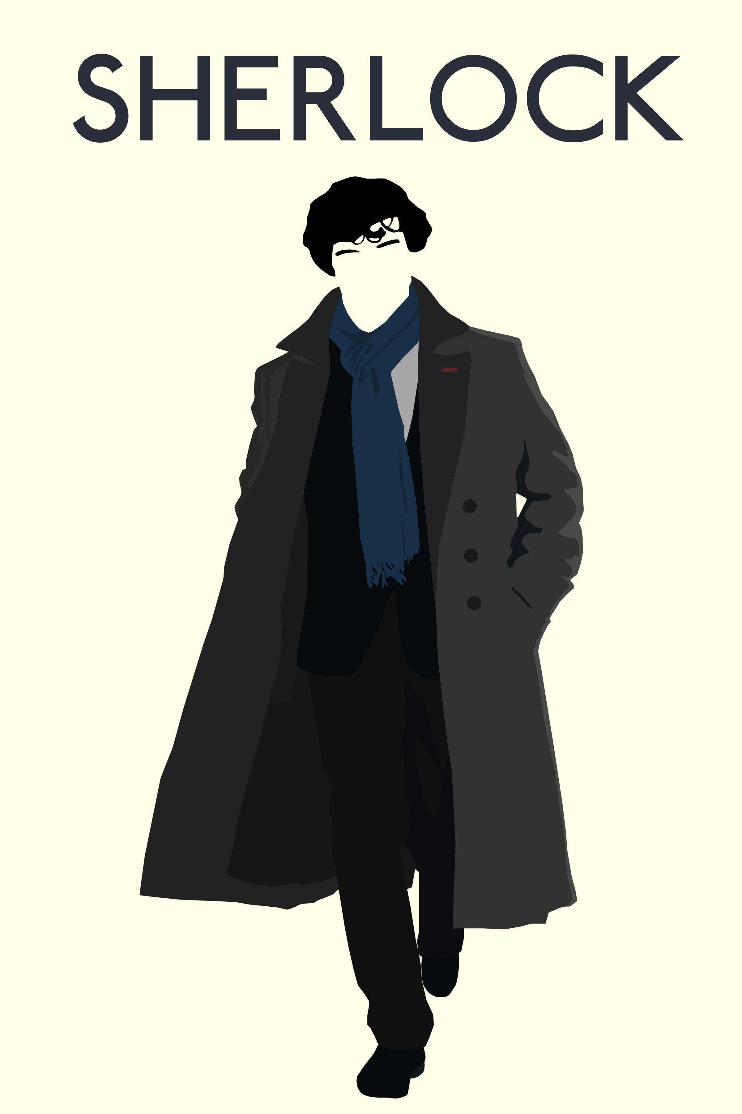 Wall Sticker Mirrors Image Minimalist Sherlock Poster I Made Sherlock