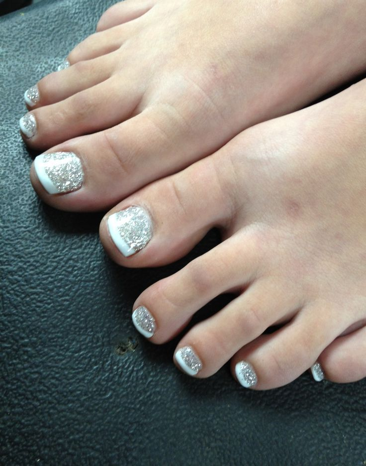 glitter toe nails | Beauty☆ | Pinterest | Pedicures, Glitter toe ...