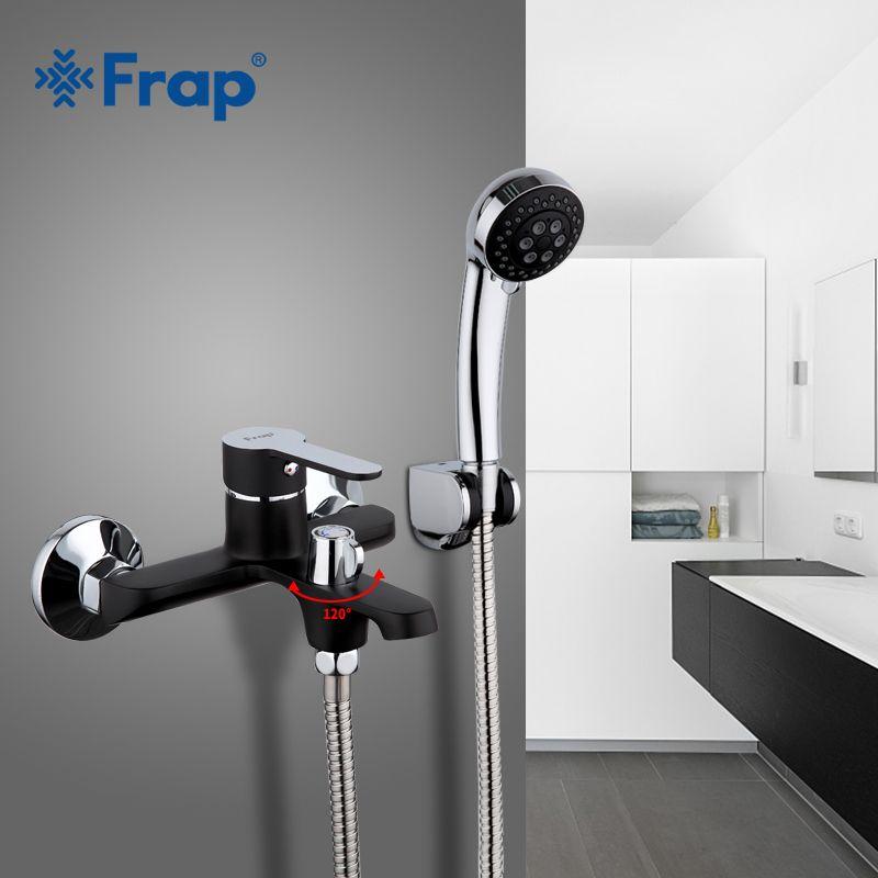 Check Price FRAP black bathroom fixture waterfall restroom bath ...