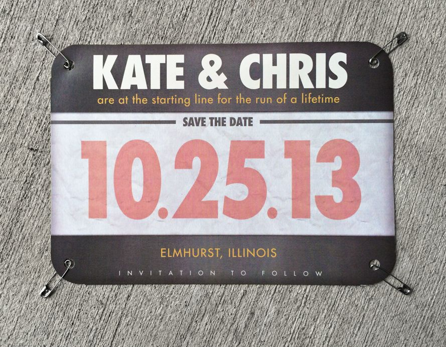 photograph relating to Printable Race Bibs Free named Your Tale Invitations: Kate Chris Conserve the Day - Runners
