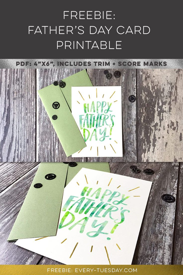 Freebie Father S Day Card Printable Every Tuesday Free Fathers Day Cards Father S Day Printable Fathers Day Crafts