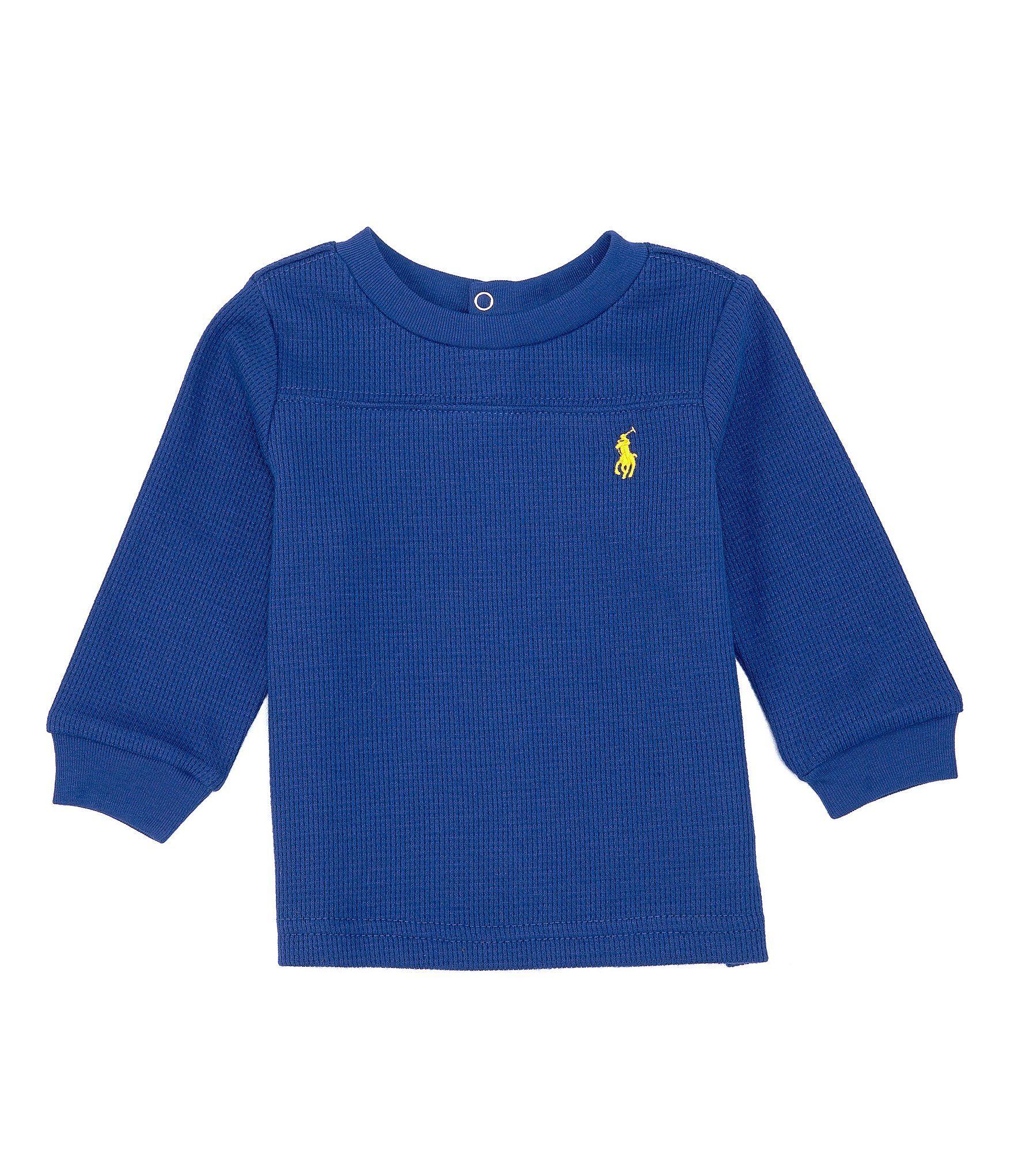 Photo of Ralph Lauren Childrenswear Baby Boys 3-24 Months Long-Sleeve Waffle-Knit Tee | Dillard's