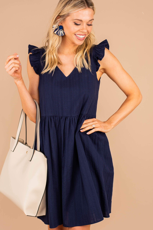 Give Love Navy Blue Babydoll Dress Dresses Babydoll Dress Blue Babydoll Dress [ 3000 x 2000 Pixel ]