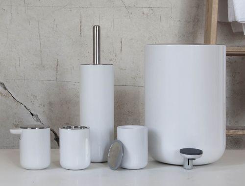 Toilet Accessoires Set : Treteimer toilettenbürste seifenspender zahnputzbecher und