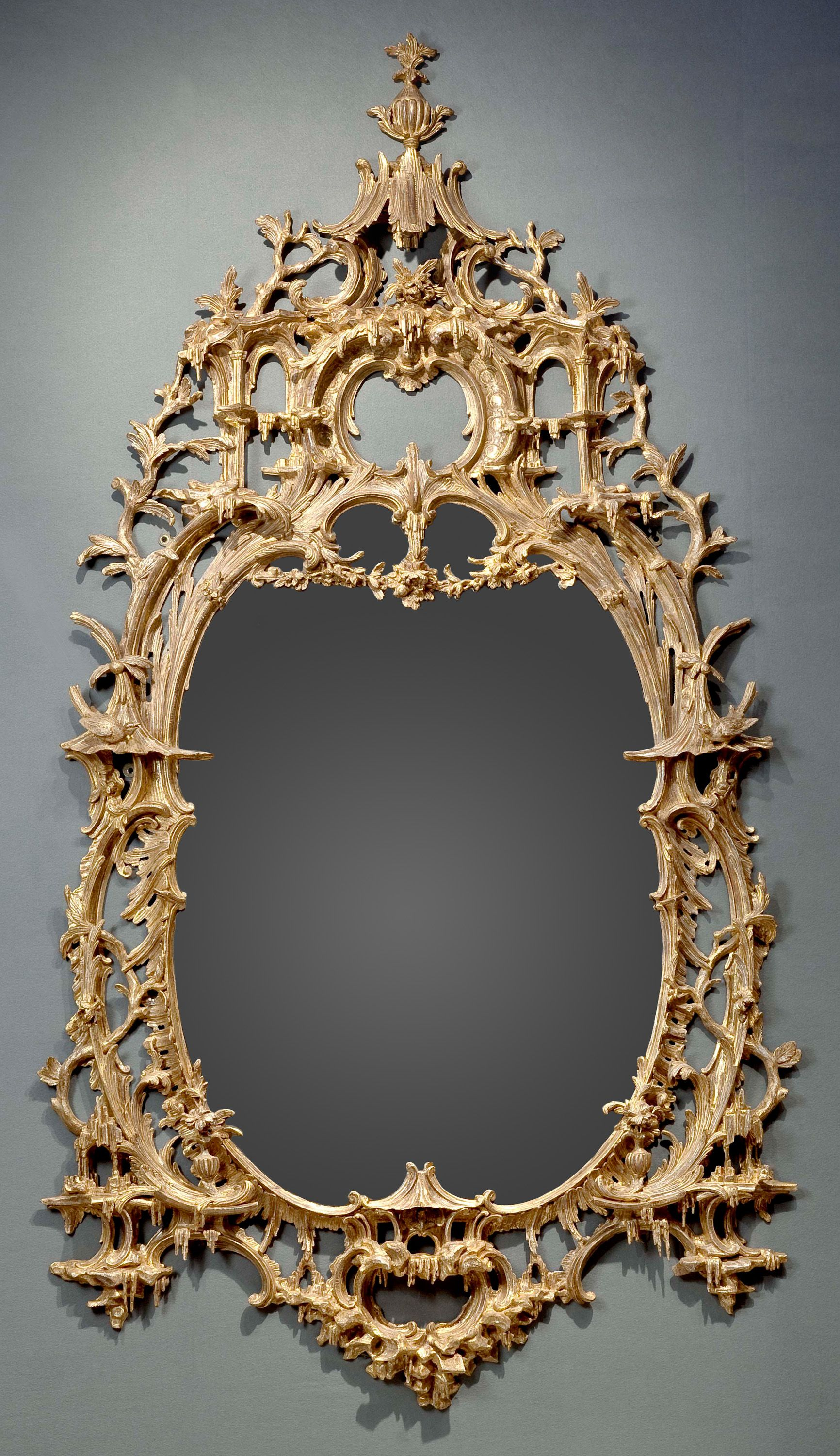 An Exceptional English Rococo Carved And Gilded Mirror Frame In The Style Of Thomas Johnson 1750 1760 Ramki Zerkalo Fotoramka