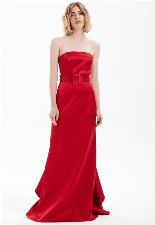 Straplez Elbise Adl Elbise The Dress Resmi Elbise