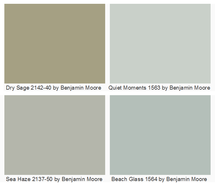 Benjamin Moore Kitchen Colors Sage Green Paint For: Beach Glass From Benjamin Moore. Dry Sage 2142-40 By