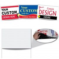 16 X24 Three Color Polybag Yard Sign Poly Bag Yard Signs Are Lightweight And Very Affordable In High Quantities Bag S Realtor Signs Yard Signs Vinyl Banners