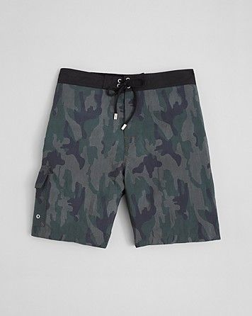 John Varvatos Collection Camouflage Swim Trunks | Bloomingdale's
