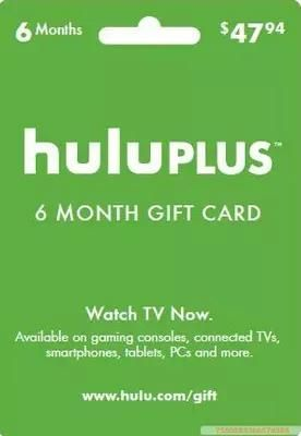 Hulu Plus 6 Month/12months Only Usa Gift Subscription Gift Card ,Send Code Only From Girls, $10.12 | Dhgate.Com