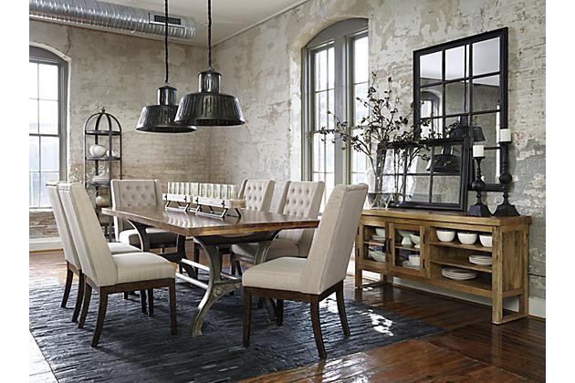 Medium Brown Ranimar Dining Room Chair View 4 Dining