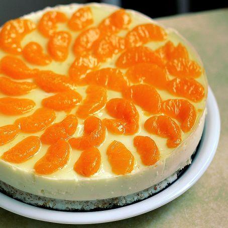 Mandarinen Frischkase Kuchen Mit Philadelphia Sahne Creme Und Vanille Boden Rezept Frischkasekuchen Kuchen Mit Frischkase Kuchen