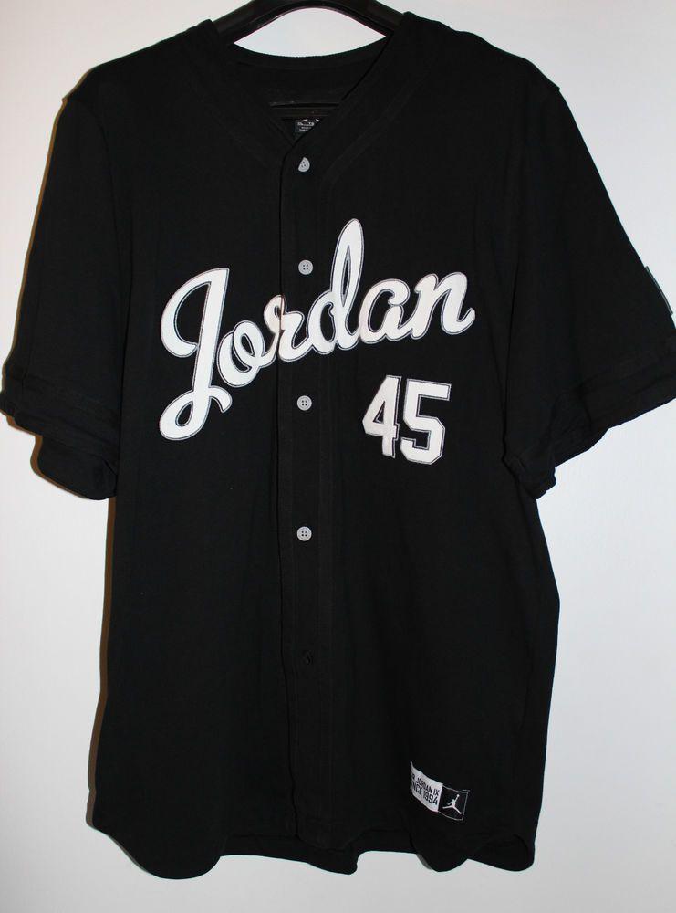 2f20a5f78241 Air Jordan Michael Jordan Retro Barons 9 IX 45 Jersey Men s Size X-Large XL  New  MichaelJordan