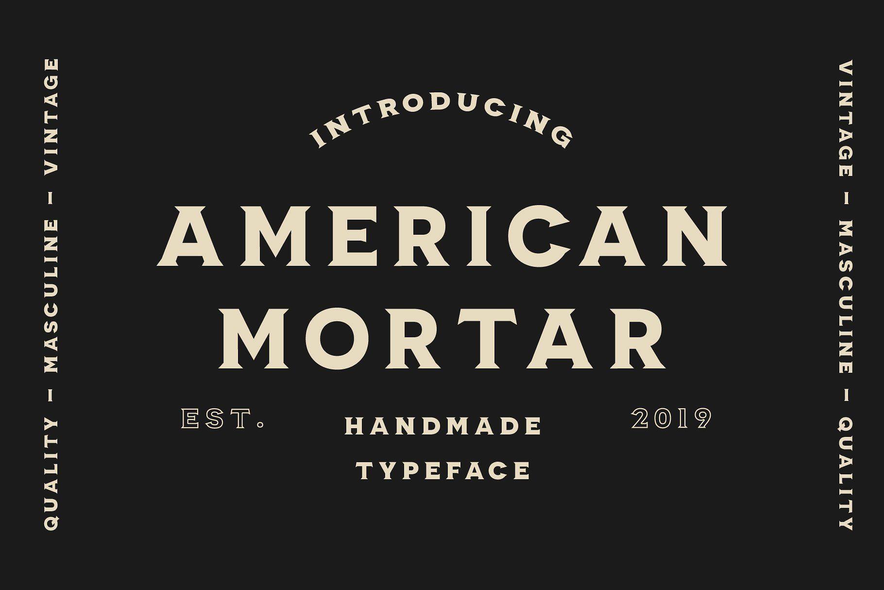 American Mortar Vintage Font Family Vintage Fonts Masculine Font Manly Fonts