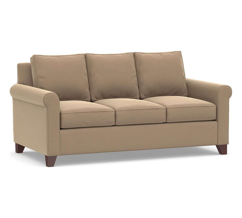 Best Cameron Roll Arm Upholstered Deluxe Sleeper Sofa In 2020 400 x 300