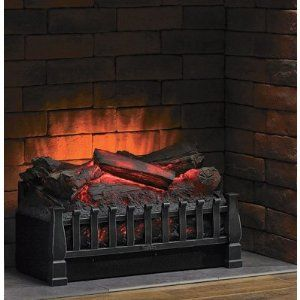 Duraflame Electric Wood Log Wooden Replica Fireplace I Want This So Badly Electric Fireplace Logs Fireplace Heater Electric Log Set
