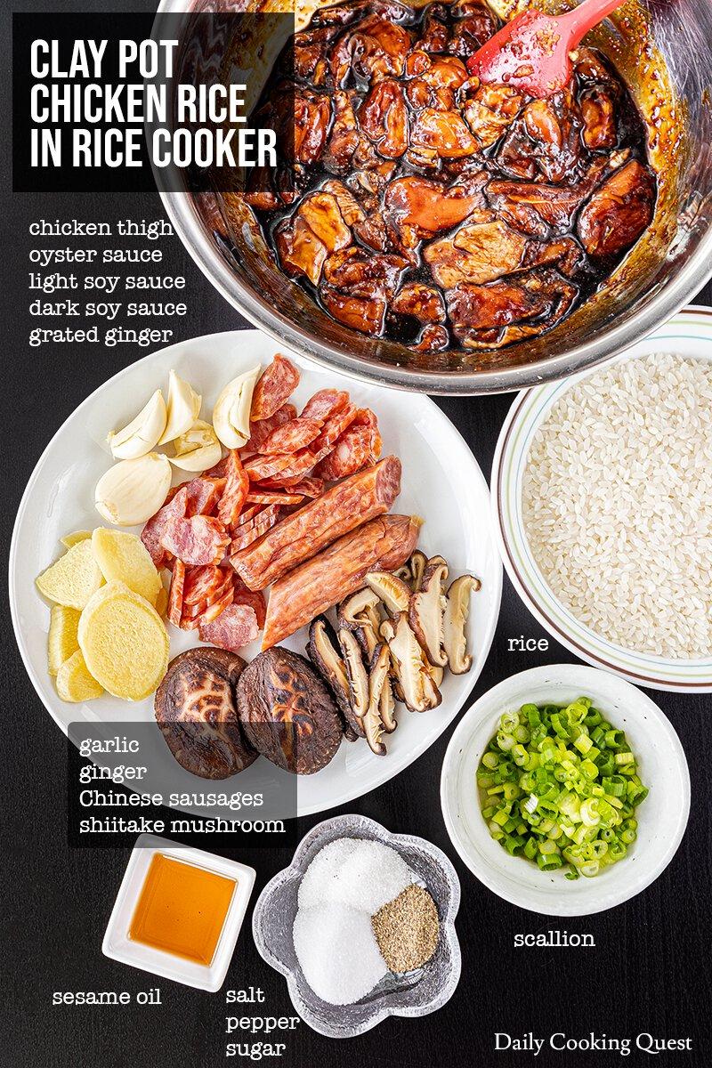 clay pot rice cooker recipe Clay Pot Chicken Rice in Rice Cooker Recipe  Daily Cooking Quest