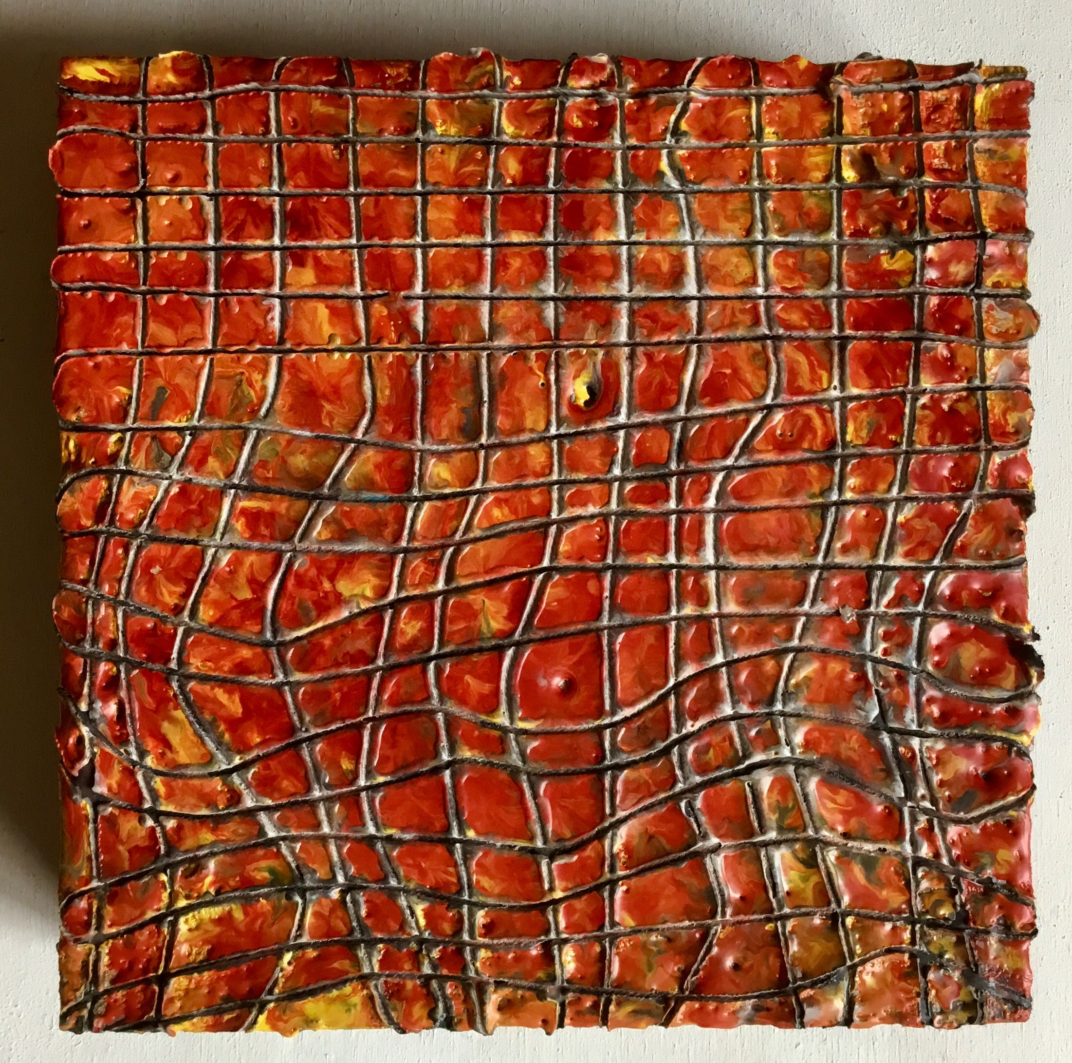 aggregate series, Encaustic on panel, Anna Wagner-Ott