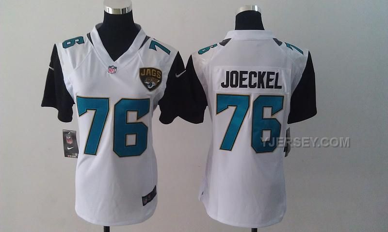Jacksonville Jaguars 76 Luke Joeckel 2013 White Game Women New Logo Jersey 77d8ff658