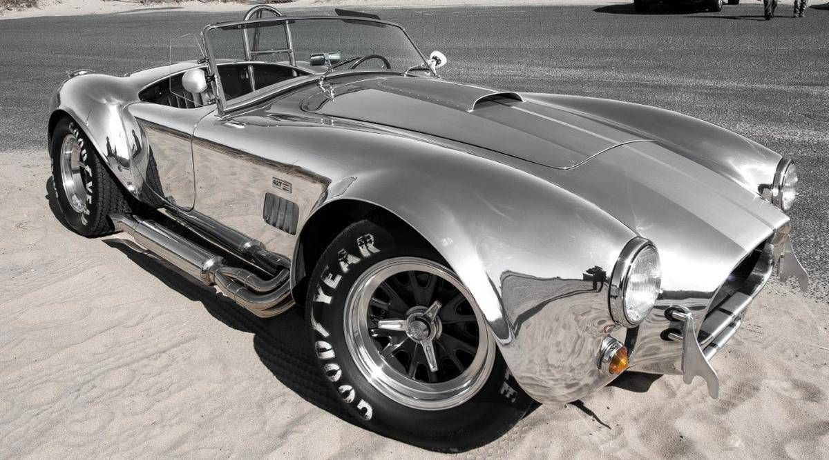 ford 1965 shelby cobra 427 shelby semi competition body polished aluminum body brushed racing stripes