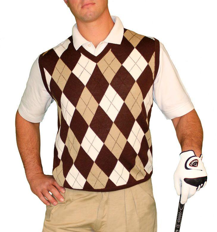 argyle vest mens pics | Argyle Sweater Vest - Mens Brown/Khaki ...