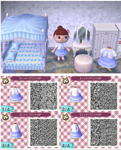Qr Code For A Cute Dress In Acnl Animal Crossing Qr Codes Clothes Qr Codes Animal Crossing Acnl Qr Codes