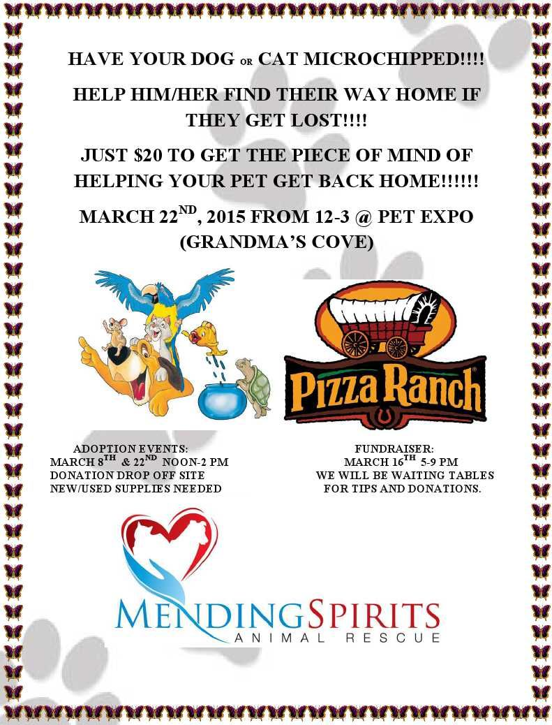 Mending Spirits Animal Rescue March Happenings March is
