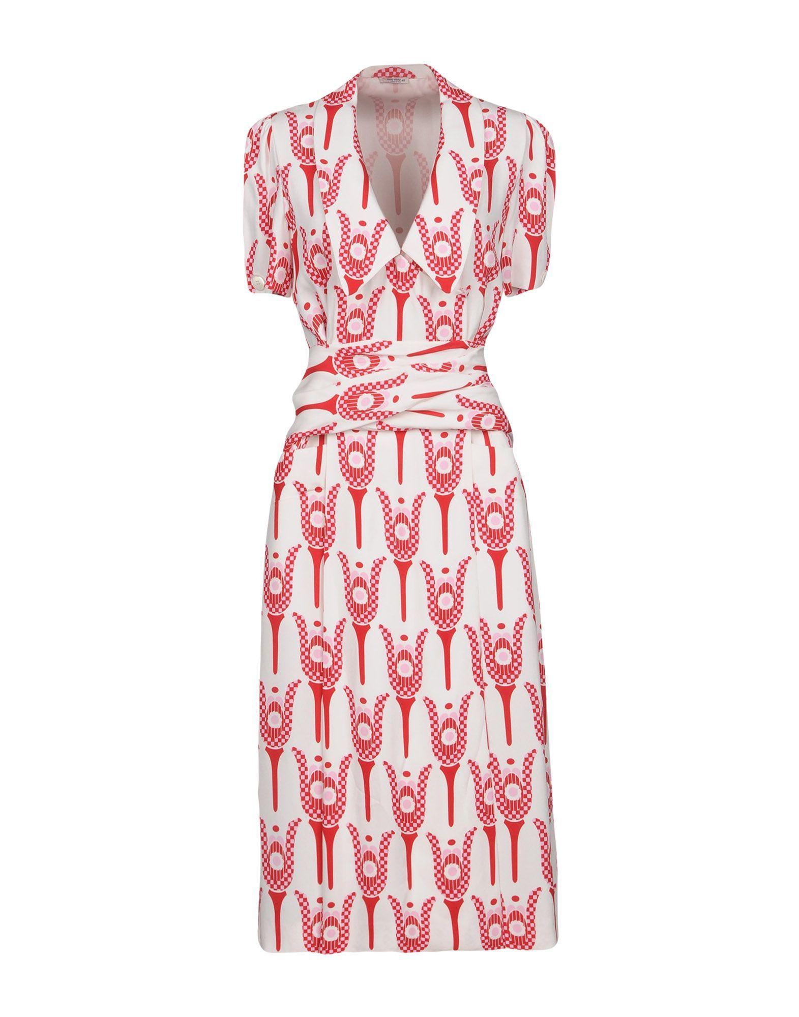 DRESSES - 3/4 length dresses Miu Miu Sale Sast uPipaKN