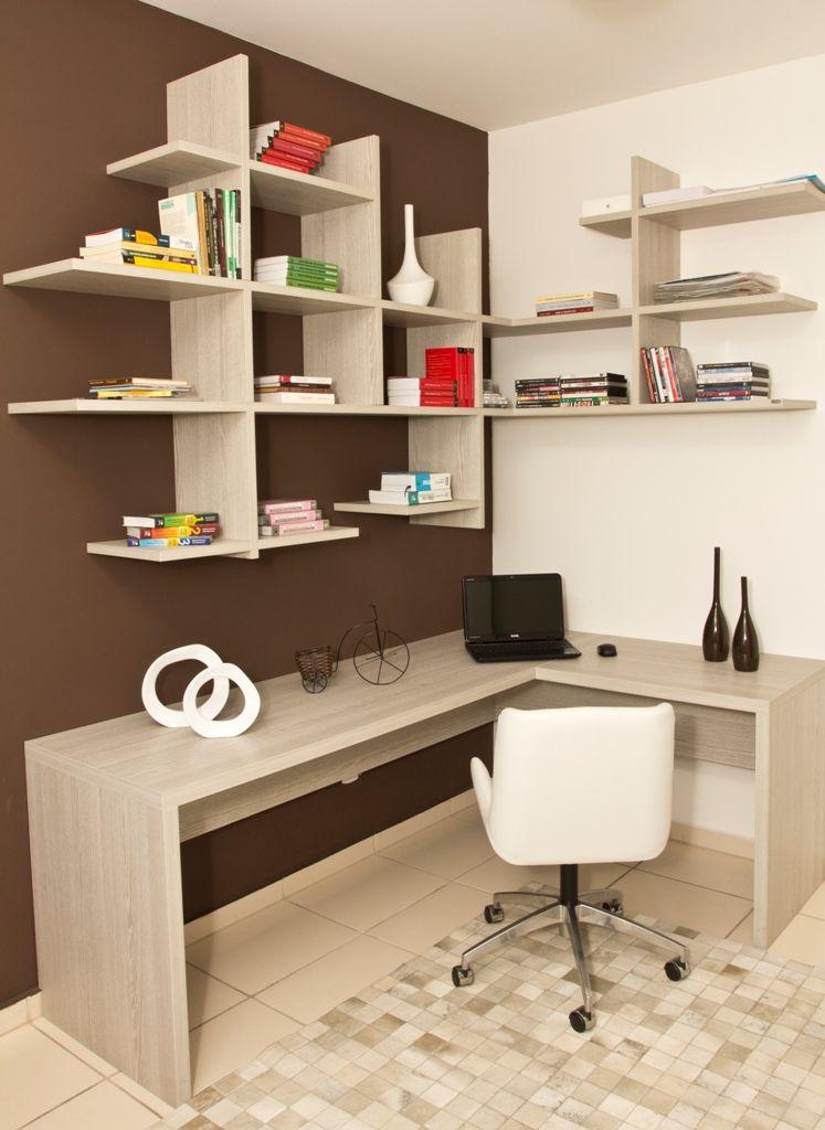 Que buen diseño para un estudio sencillo, dinámico y cómodo - diseo de escritorios